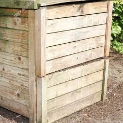 Compost Bin For Kitchen Curtain Fabric Sale 有机原料木堆肥箱 图库照片 C Sylv1rob1 192926994
