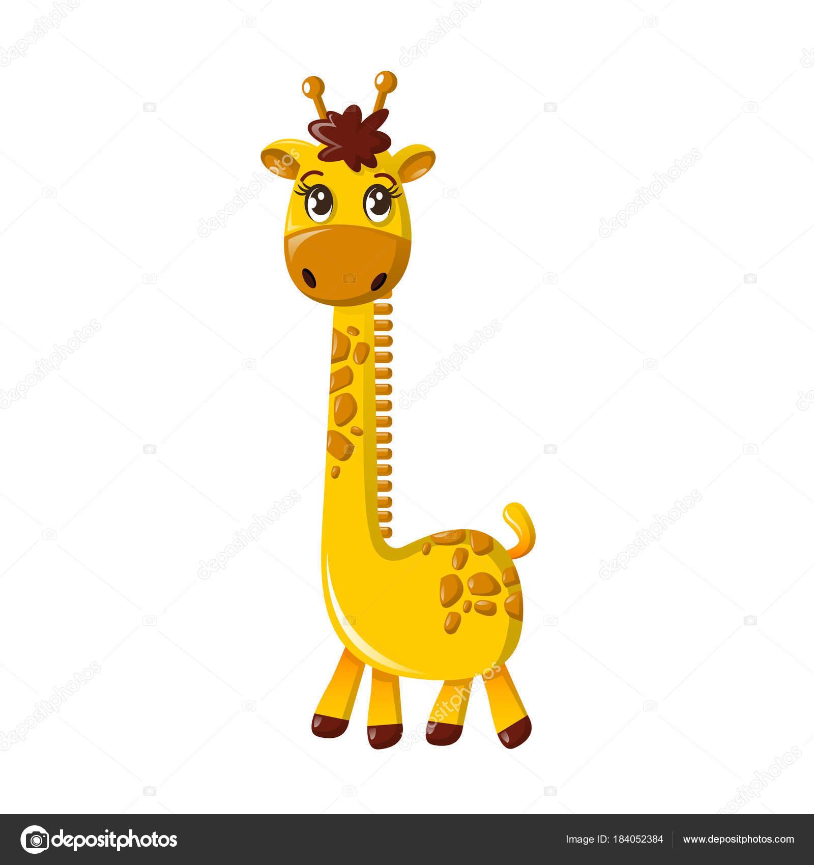 Girafa Alto Bonito Desenho Animado Girafa Grande Com