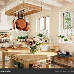 Cabin Kitchen Decor Delta Faucet Replacement Parts 复古厨房在小屋与睡觉的猫 3d 渲染 图库照片 C 2mmedia 190126504 照片作者2mmedia