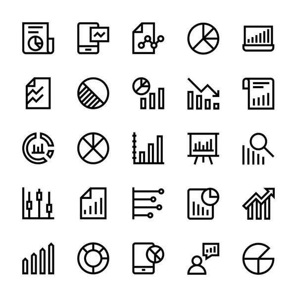 Vector Diagrams Line Icons — Stock Vector © dashadima