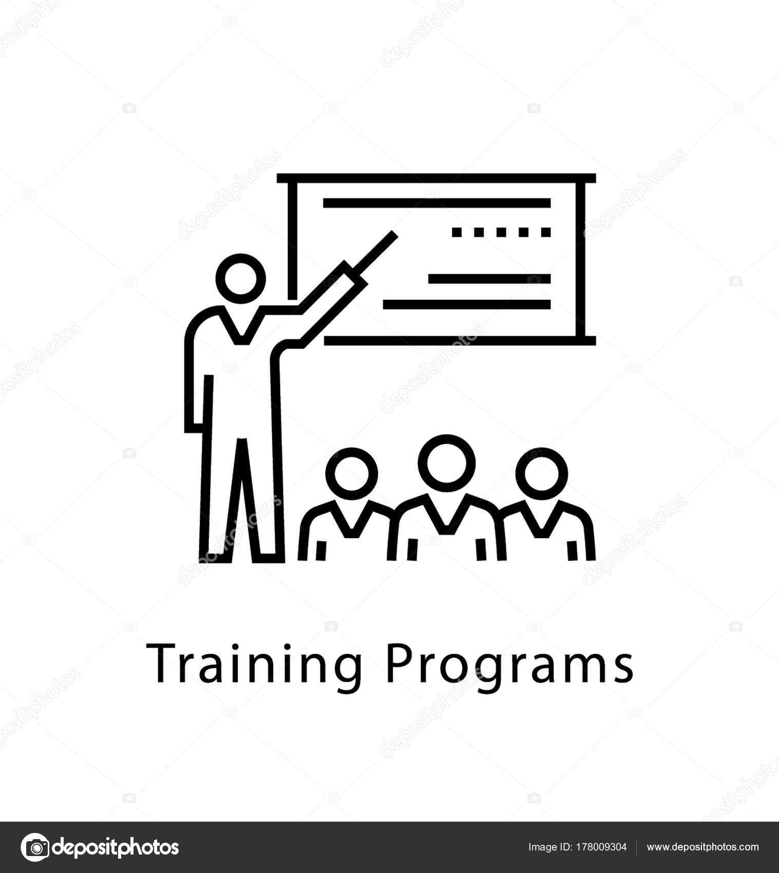 Учебные Программы Векторной Линии Значок — Векторное