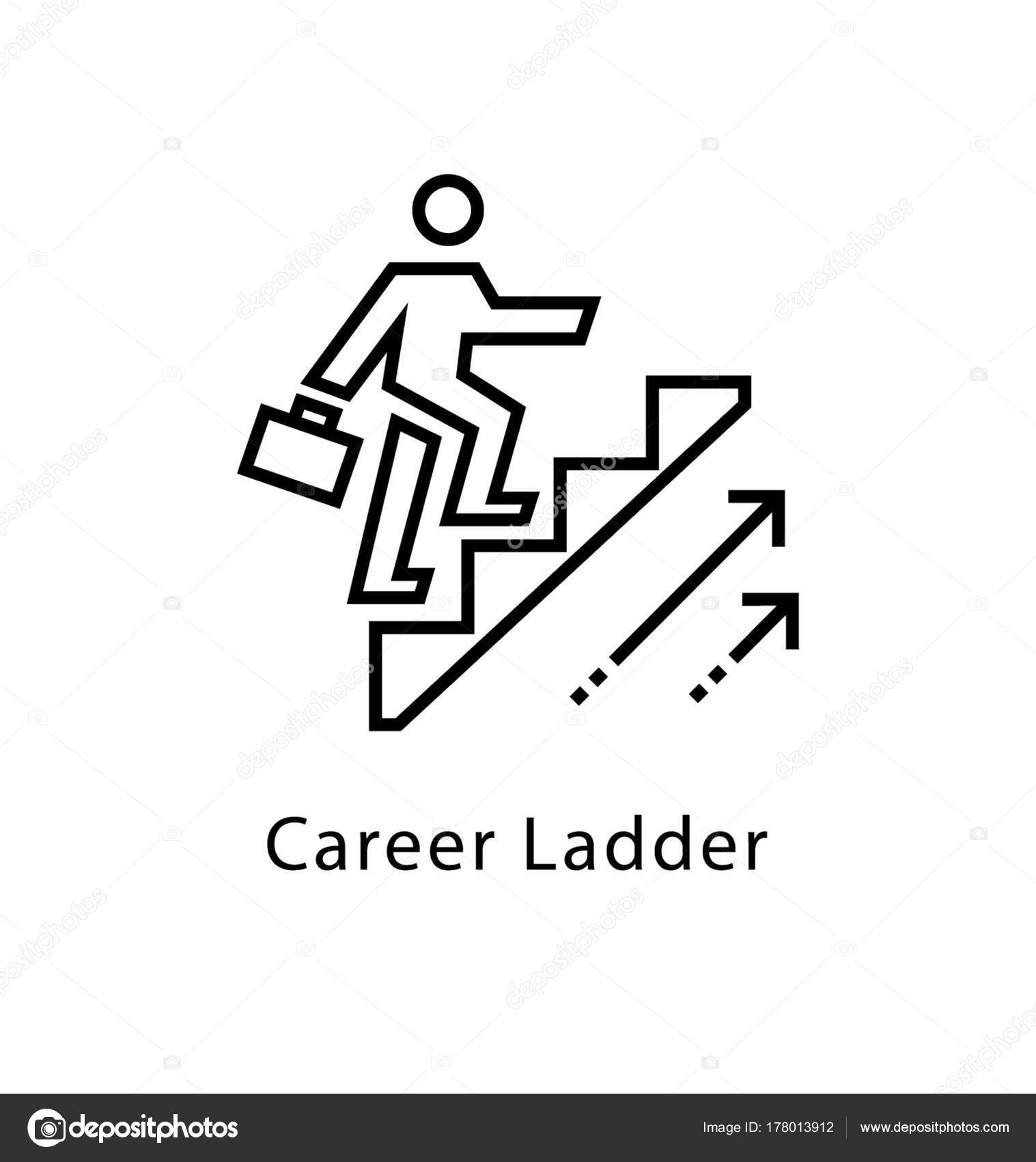 Career Ladder Vector Line Icon