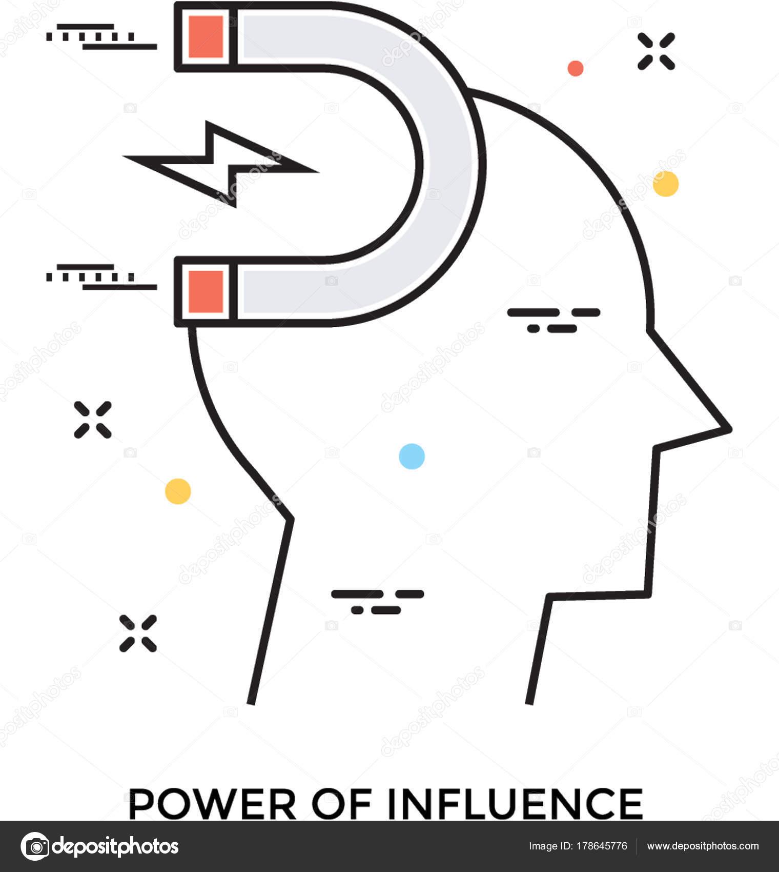 Einfluss Power Vektor Symbol