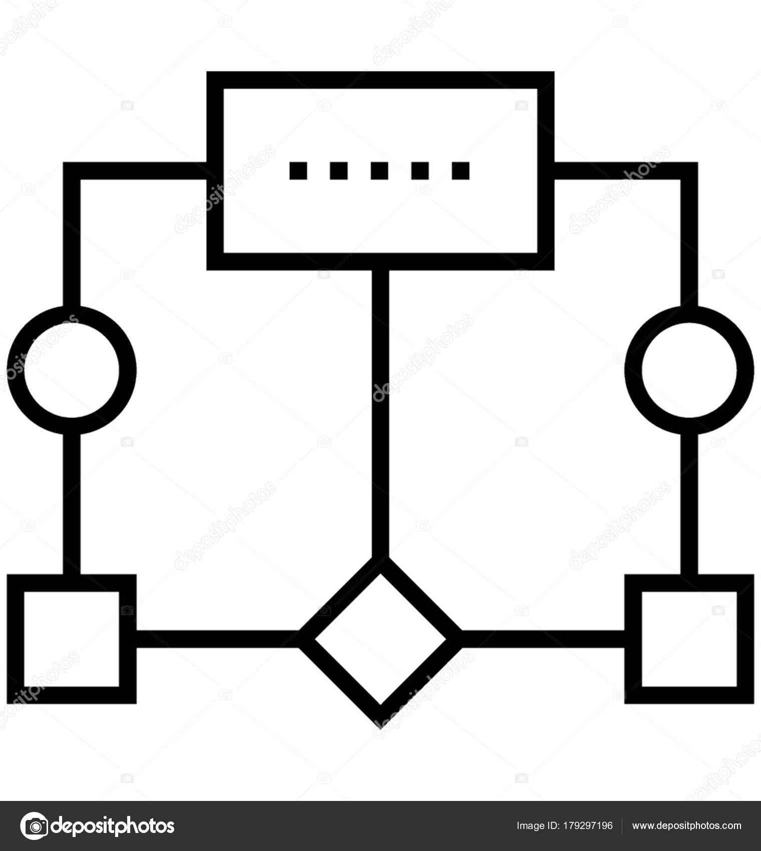 Icono Vector Diagrama Flujo