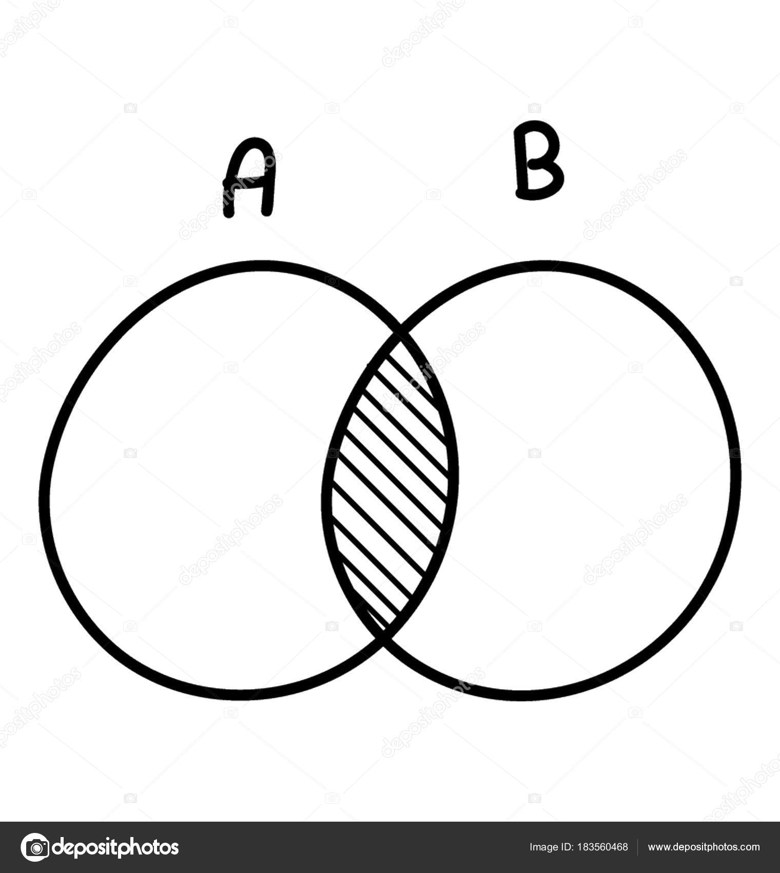 vector venn diagram wiring for a two way switch doodle icon discrete math  stock