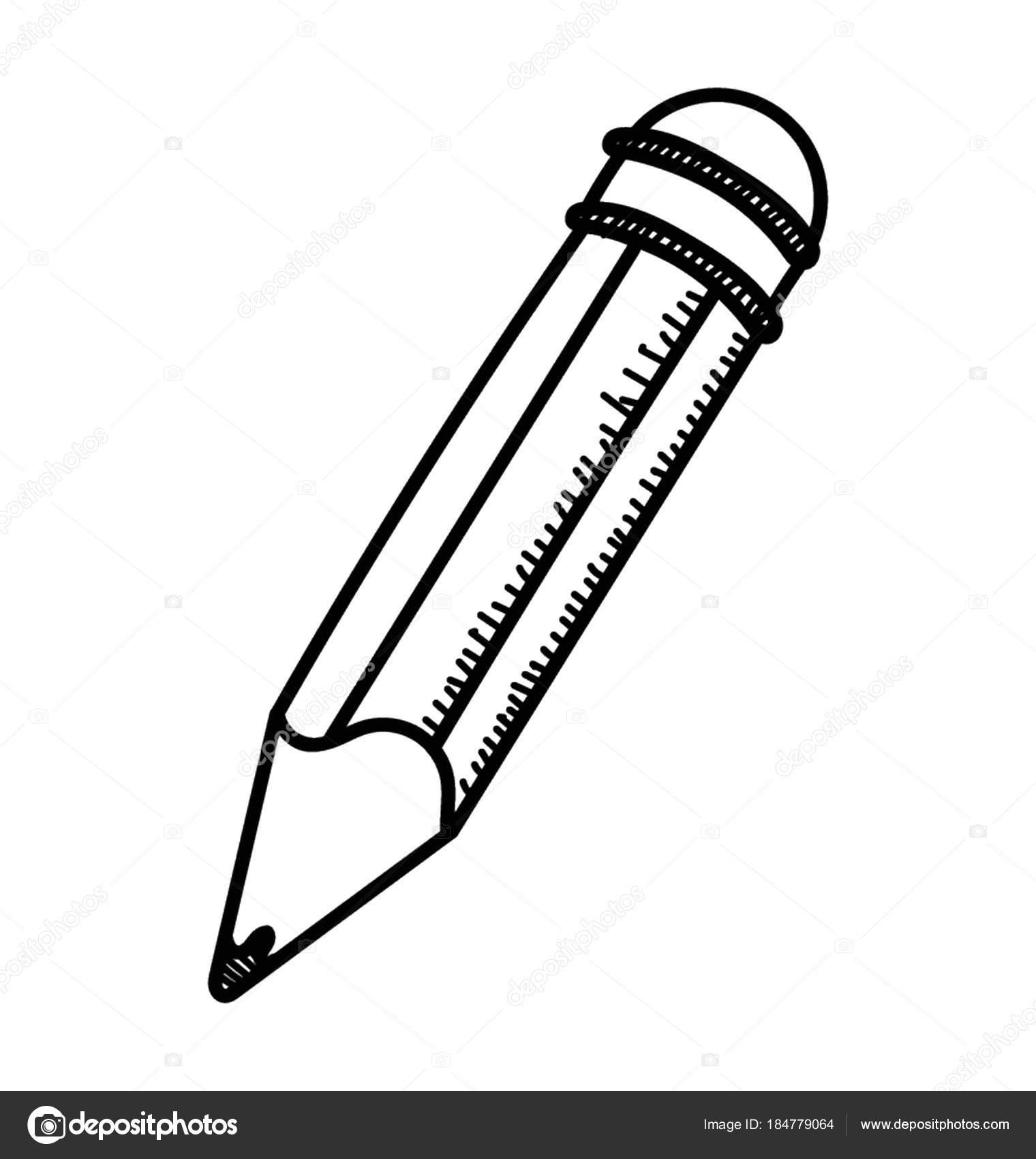Doodle Symbol Stift Zum Schreiben Bearbeitung Und