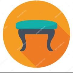 Kitchen Counter Stools Set 用于梳妆台前或厨房柜台设置的低高度凳子 图库矢量图像 C Creativestall 图库矢量