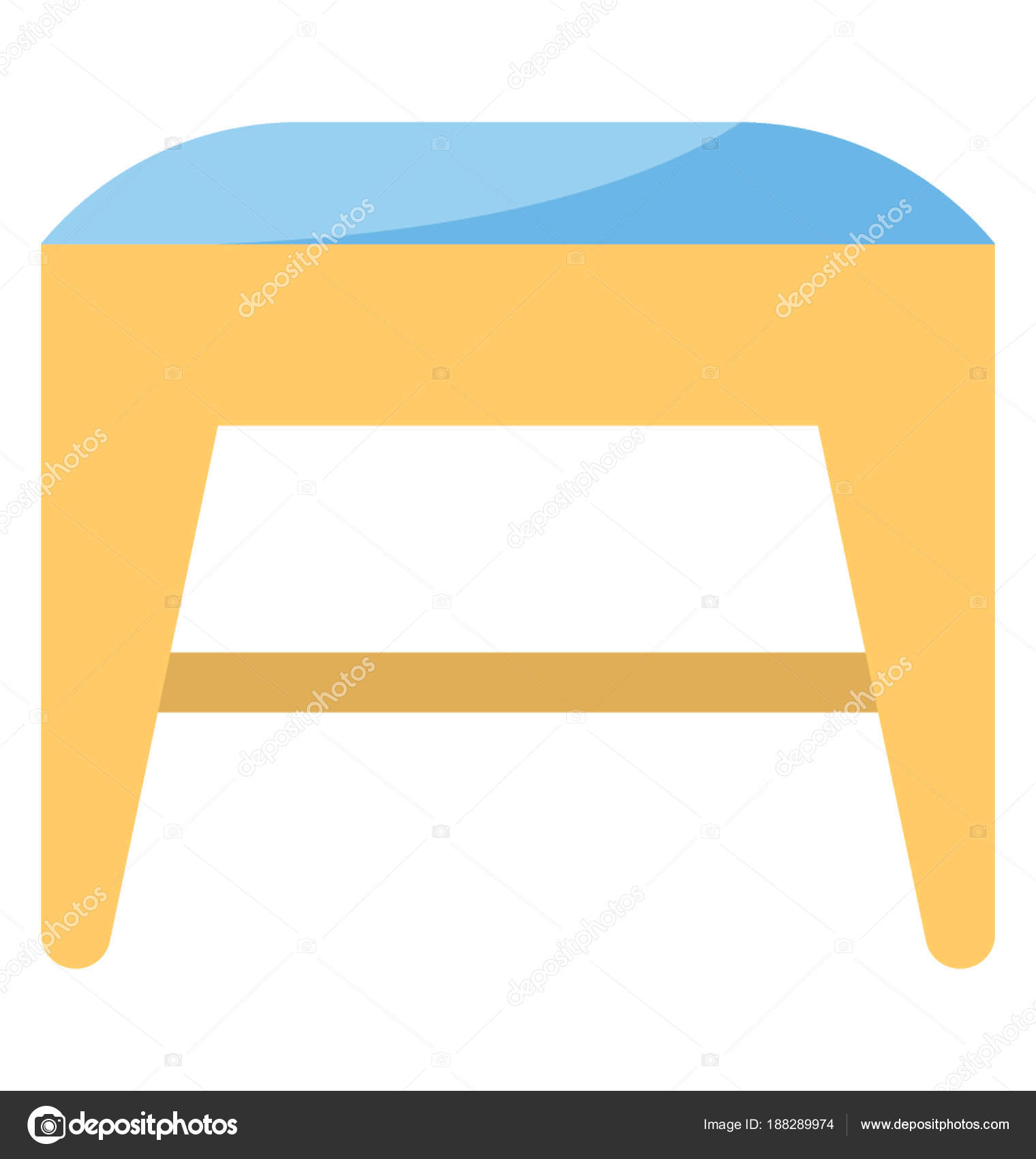 kitchen counter stools storage solutions 用于梳妆台前或厨房柜台设置的低高度凳子 图库矢量图像 c creativestall 图库矢量