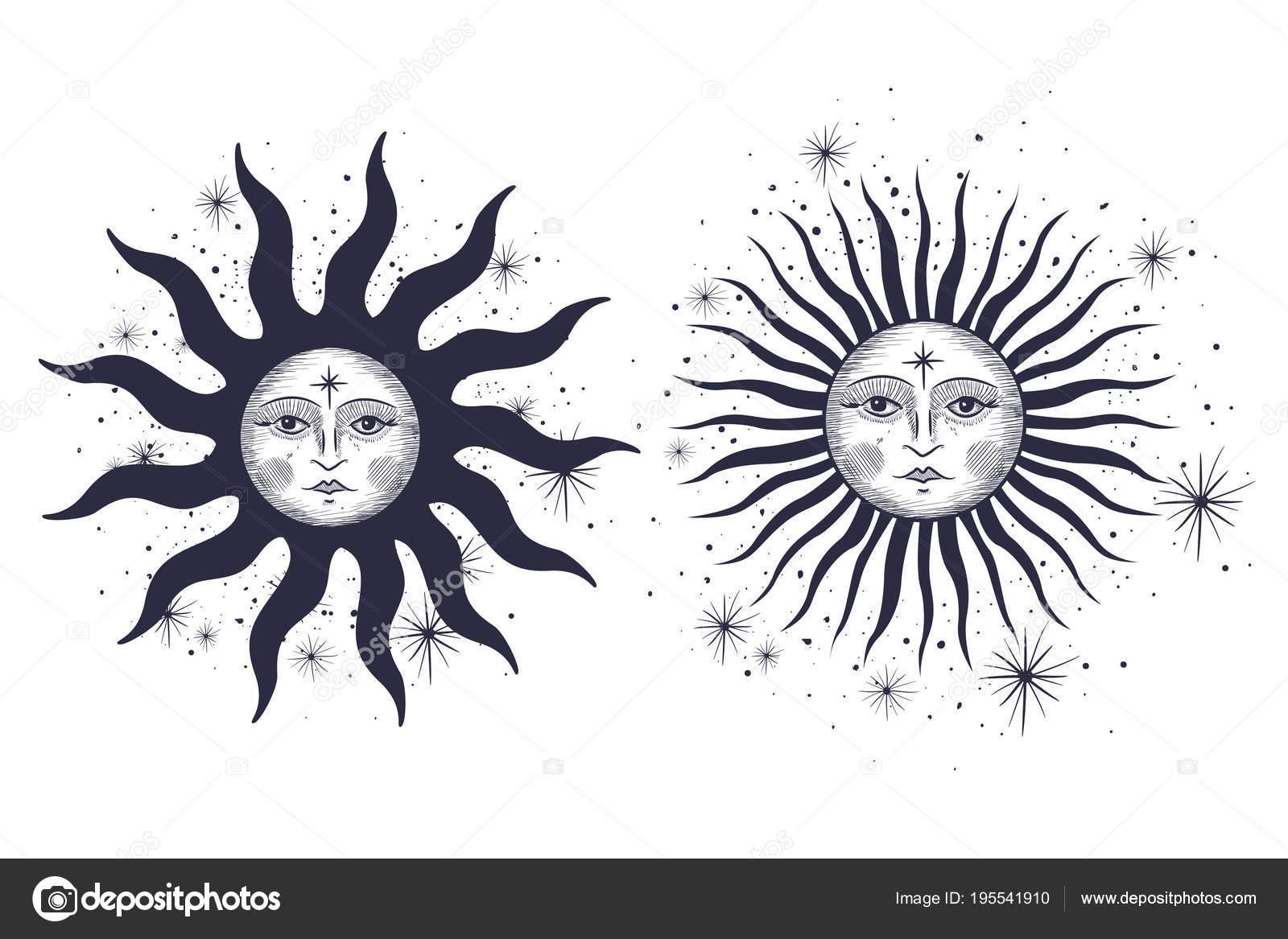 Sun and moon designs tattoos | Face Sun Moon Stars Masonic Tattoo ...