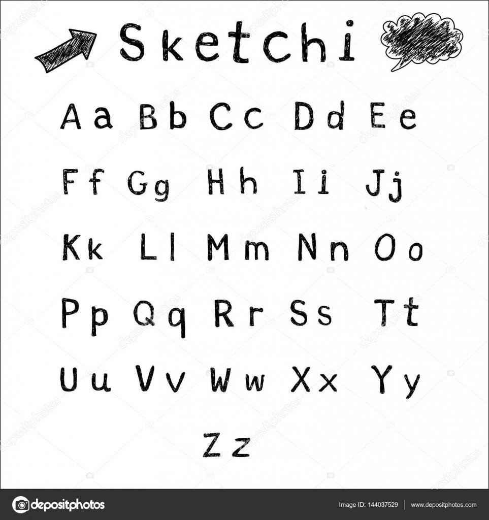 letras del abecedario en cursiva