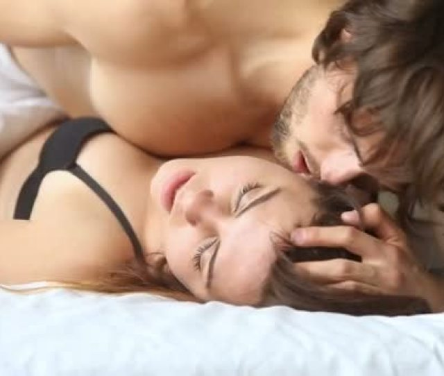 Young Couple Having Sex On Bed Sensual Woman Getting Orgasm Stock Footage