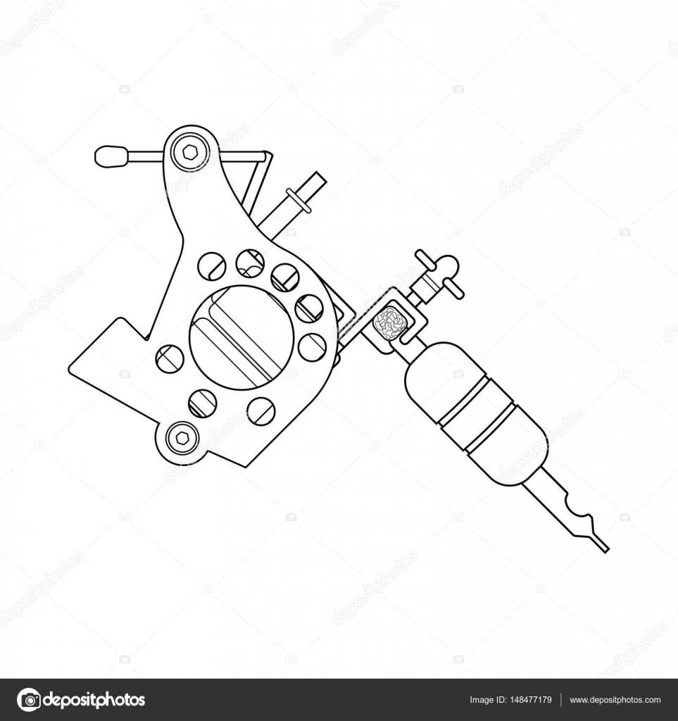 Baixar Vetor de mquina de tatuagem Ilustrao de Stock