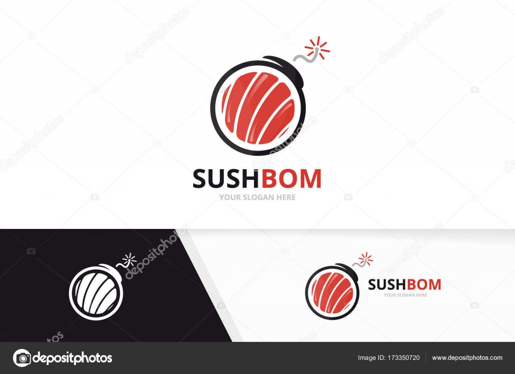 vector sushi and bomb