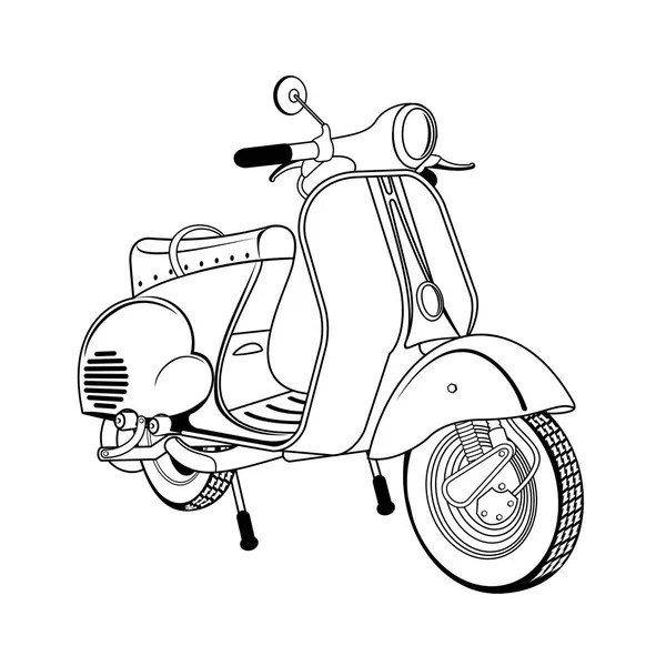 Vespa drawing Stock Vectors, Royalty Free Vespa drawing