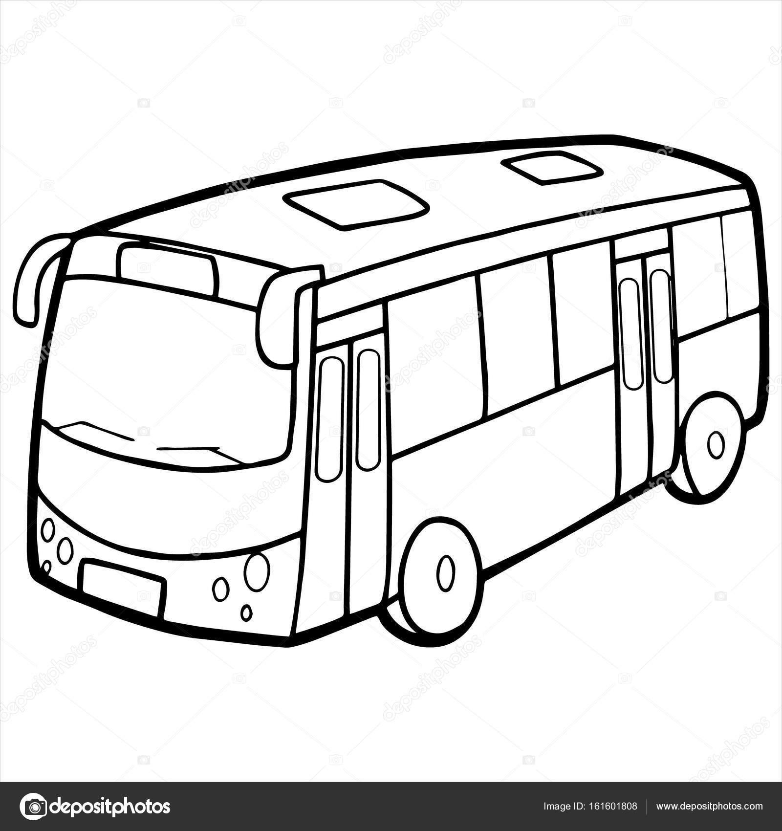 Bus cartoon illustration isolated on white — Stock Vector