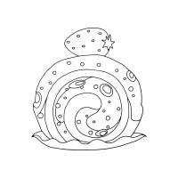 Hand Gezeichnet Einfache Brezel Bäckerei Element ...