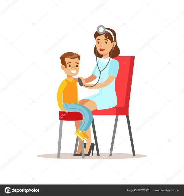 Kid Medical Check- With Female Pediatrician Doctor