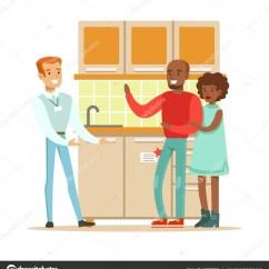 Home And Kitchen Stores Best Rated Cabinets 商店卖家卖厨房设置为夫妇 微笑在家具店的购物者买房子的装饰元素 图库 寻找家庭室内设计项目在商场里的卡通人物 矢量图片topvectors
