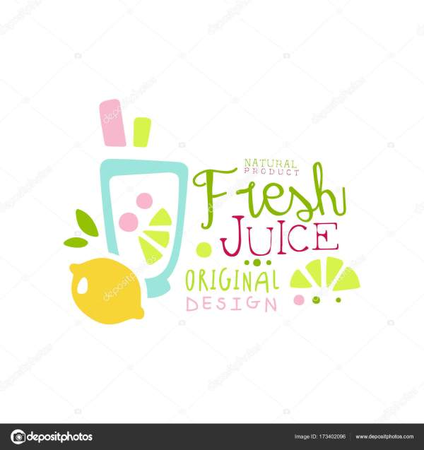 Fresh Juice Natural Product Logo Original Design Drinks