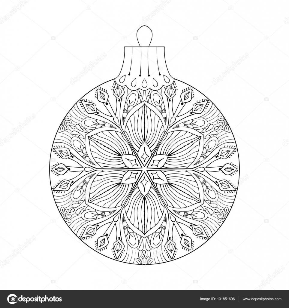 Malvorlage weihnachtskugeln erwachsene Coloring and