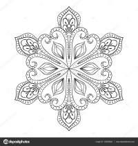 Vektor Schneeflocke Zentangle stilgerecht, doodle Mandala ...