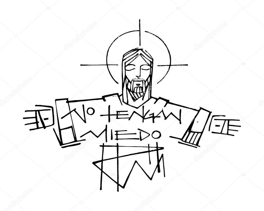 Jesús Cristo y la frase — Vector de stock © bernardojbp