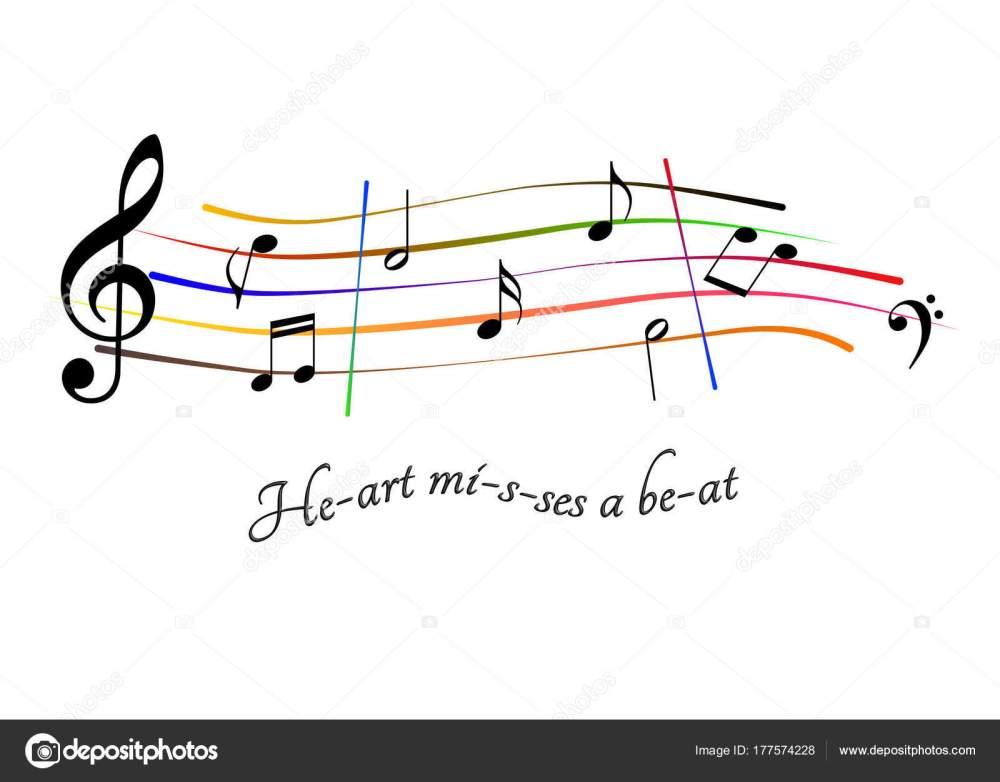 medium resolution of musical score heart misses a beat stock photo