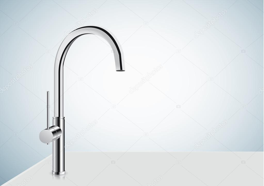 chrome kitchen faucet upholstered chairs with casters 银铬厨房水龙头 图库矢量图像 c solar22 126049804 图库矢量图片