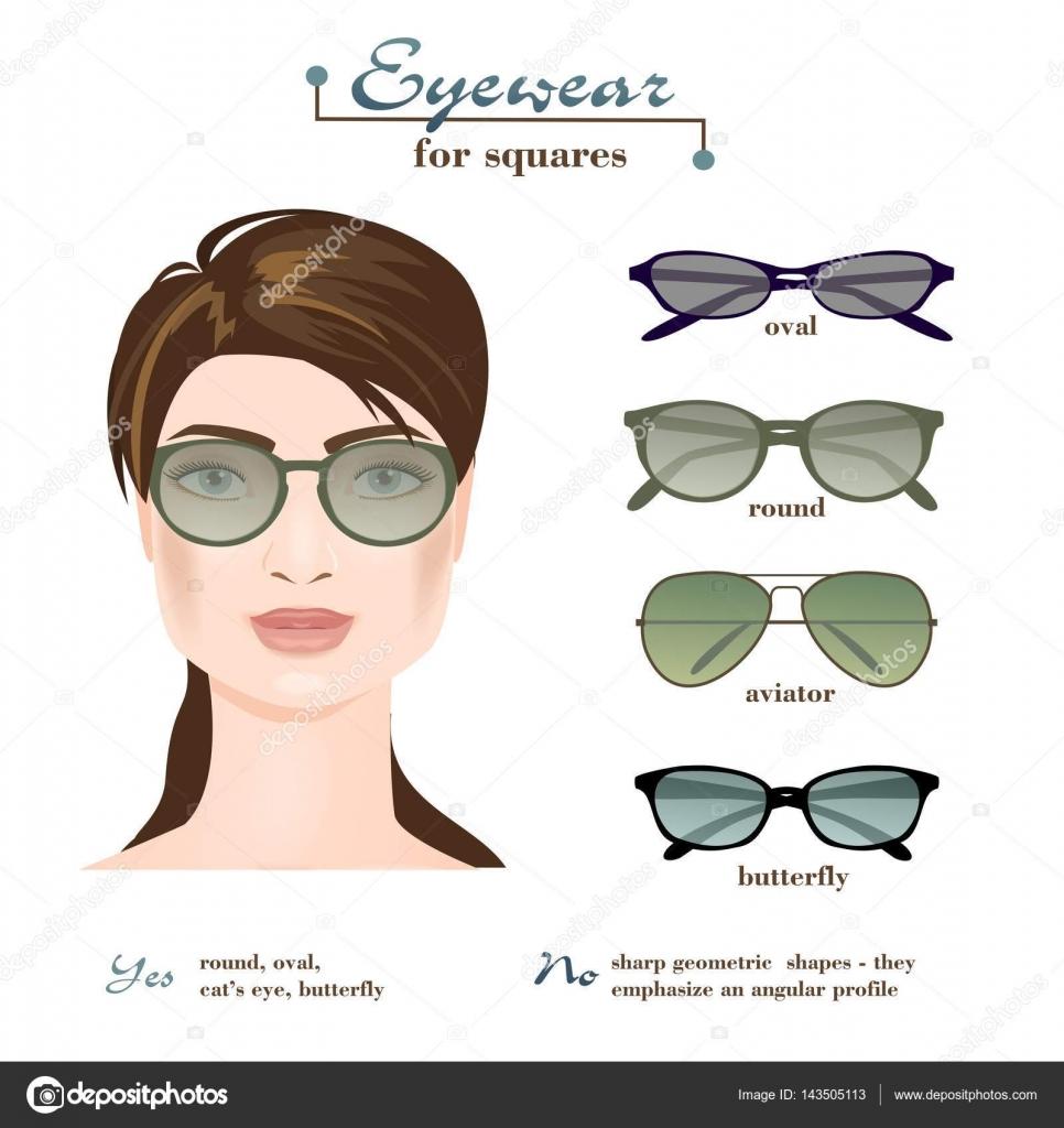 Damen-Brille Für Quadrate — Stockvektor © Olesssia #143505113