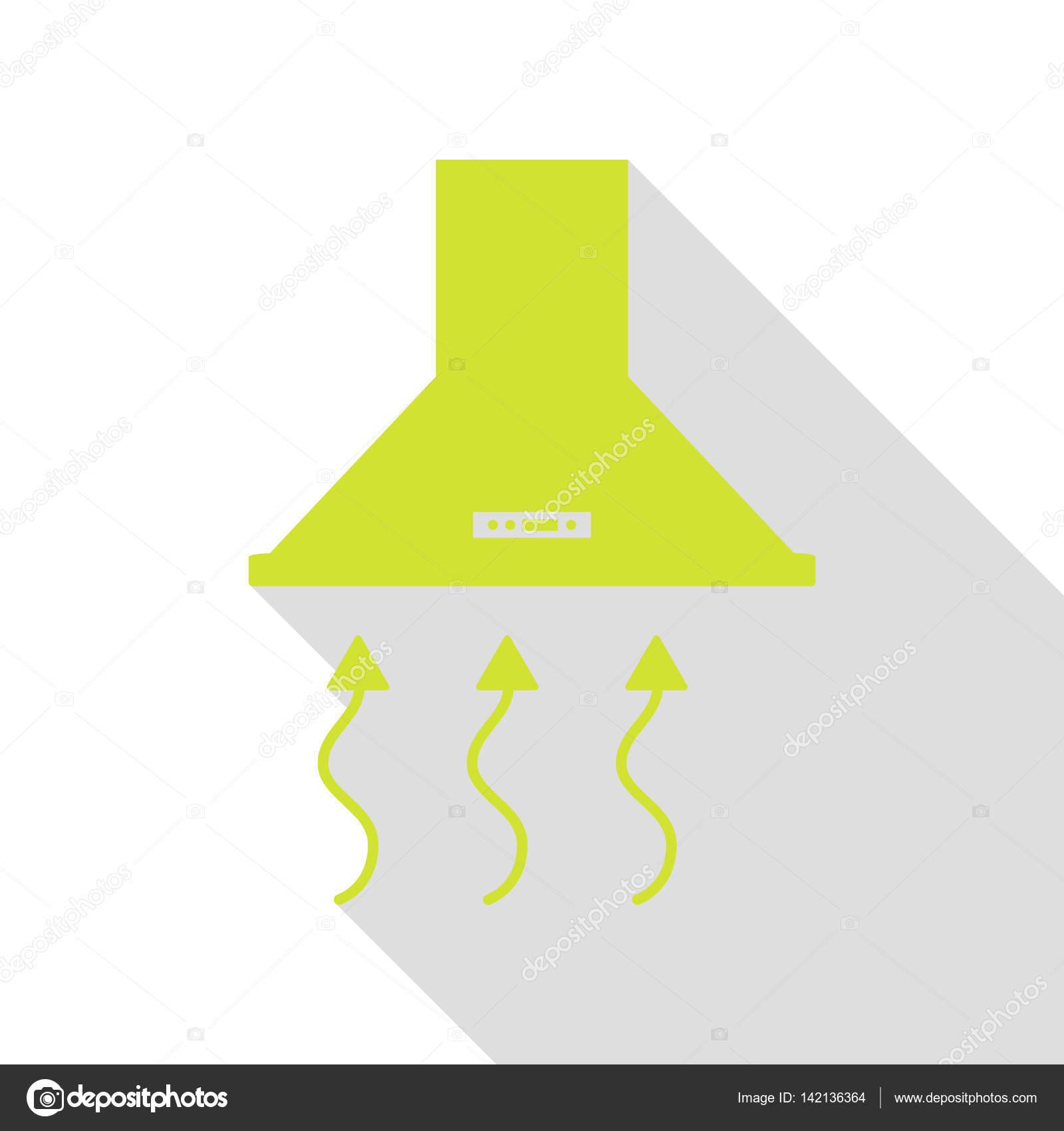 kitchen vent hood stove backsplash 排风罩 脱排油烟机 厨房通风标志 平面样式阴影路径与梨图标 图库矢量 平面样式阴影