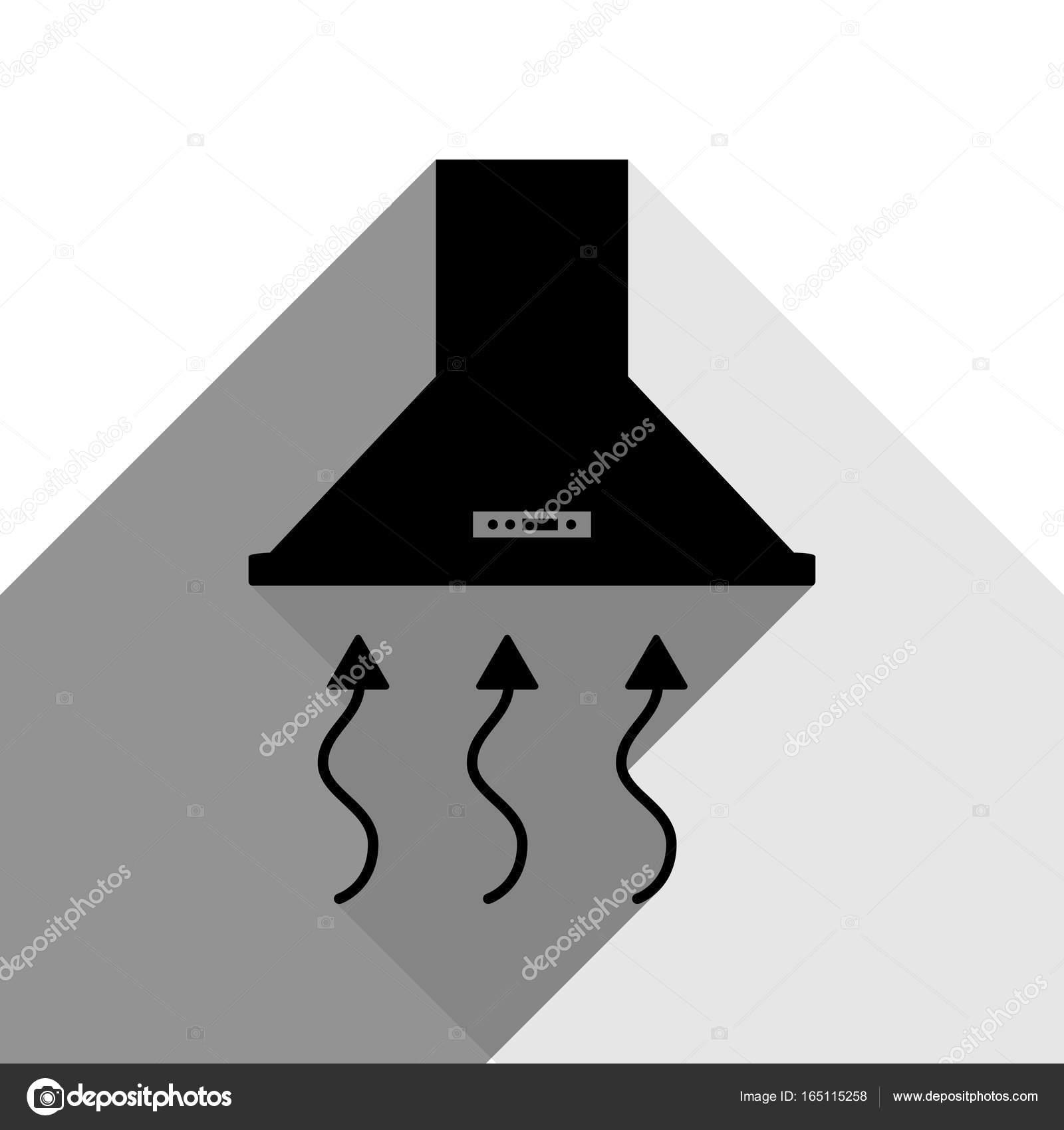 kitchen vent hood drop in farmhouse sinks 排风罩 脱排油烟机 厨房通风标志 矢量 有两个扁平的灰色阴影 白色 有