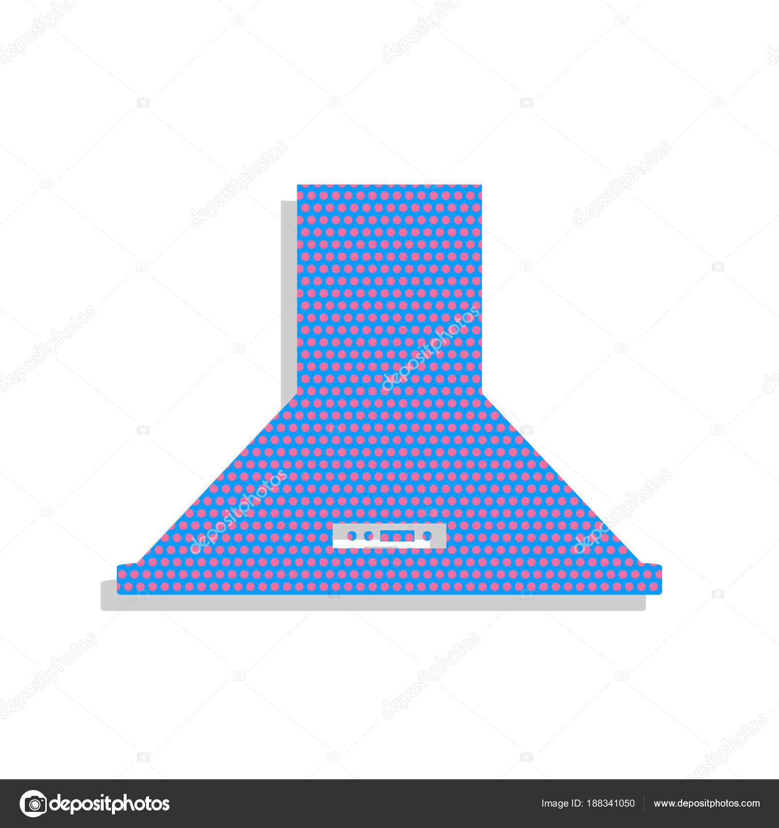 kitchen vent hood reclaimed wood table 排气罩 厨房通风标志 矢量 霓虹灯蓝色图标w 图库矢量图像