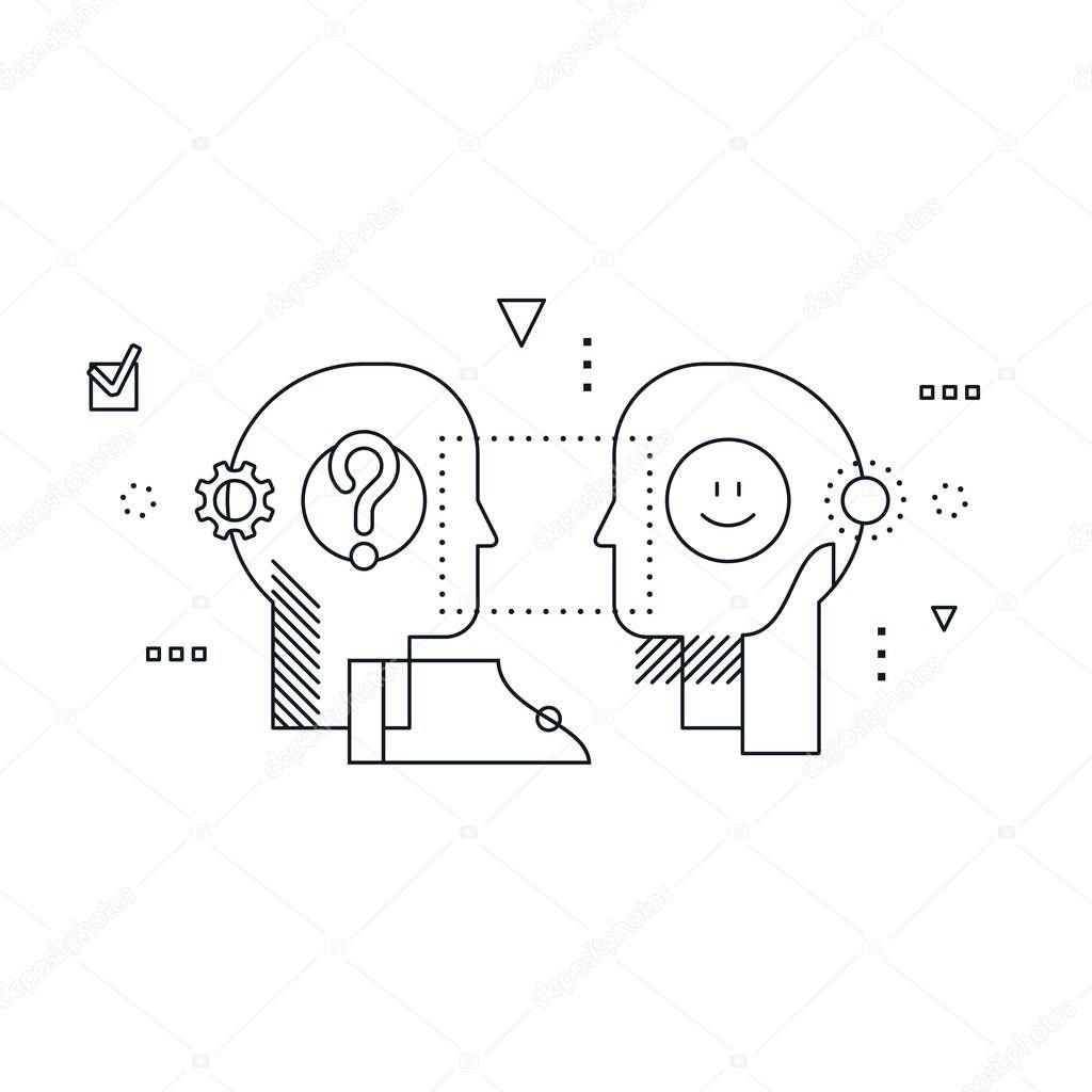 감성 지능 개념, 커뮤니케이션 능력, 추론 및 설득 — 스톡 벡터 © Stmool #165337770