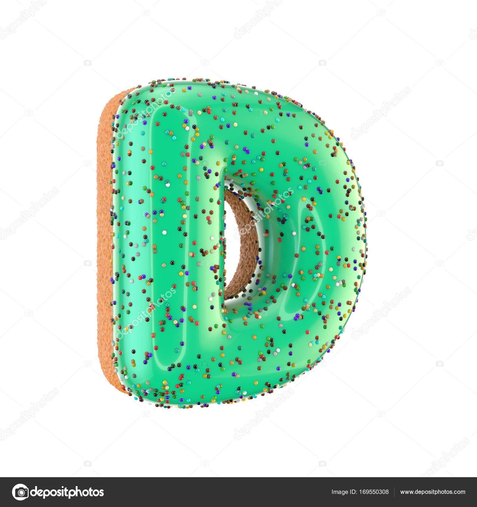 Donut Letter D Uppercase