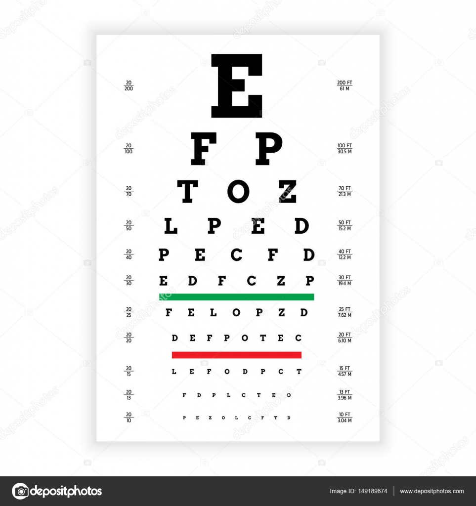 Vision test board — Stock Vector © shopplaywood #149189674