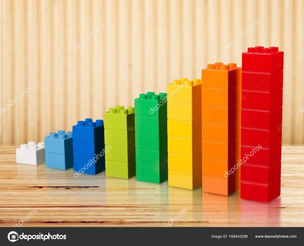 medium resolution of toy blocks increasing graph bar infographic diagram chart stock photo
