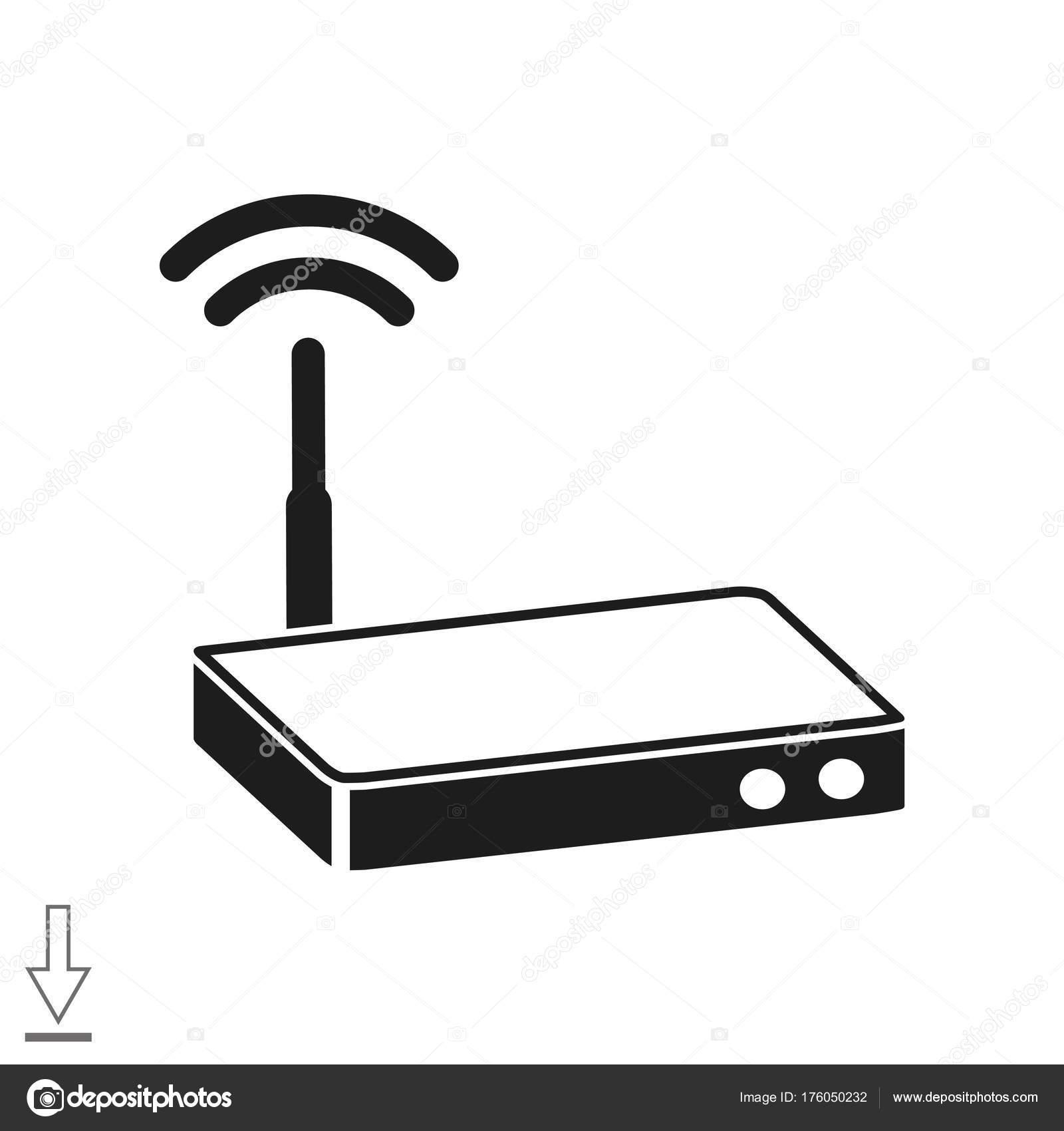 Einfaches Symbol Router