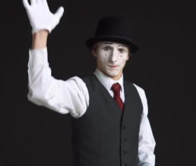 Man Mime Cleaning Glass On A Black Background It Splatters The Windshield Wiper Enemas And