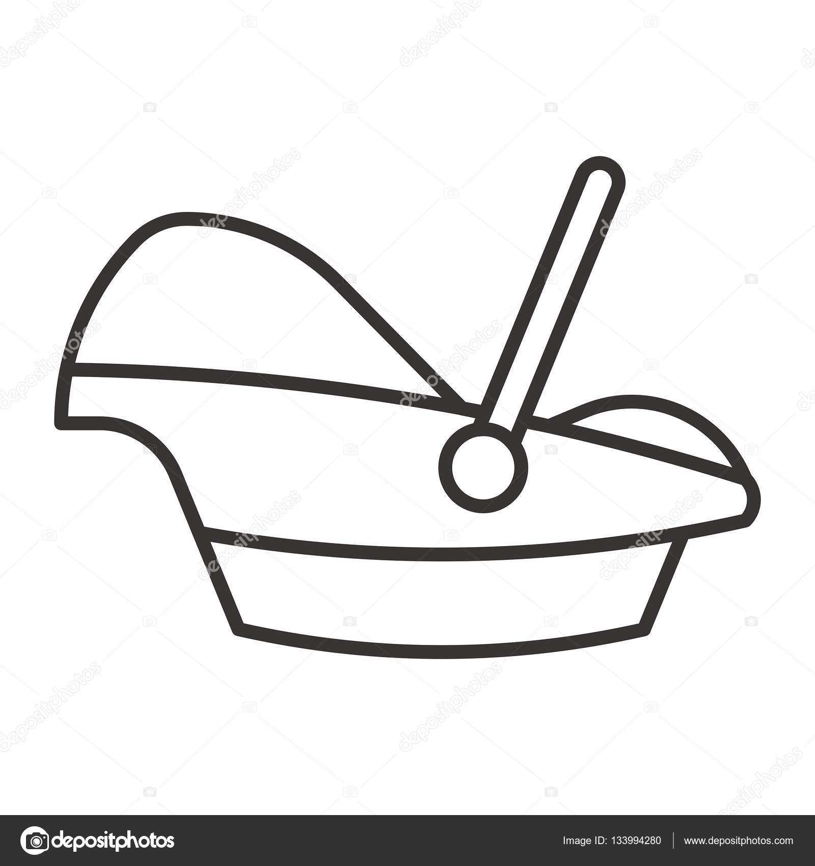 Baby carrier icon — Stock Vector © everydaytemplate #133994280