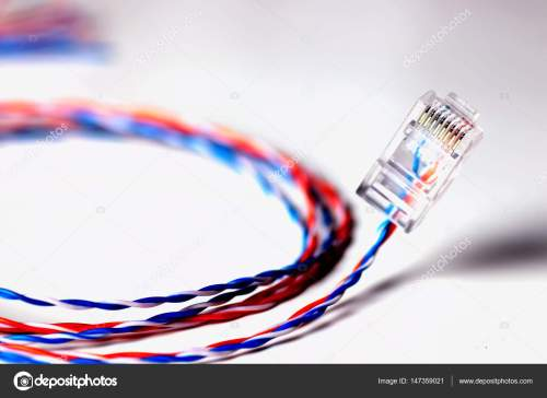 small resolution of plug wire color lan stock photo