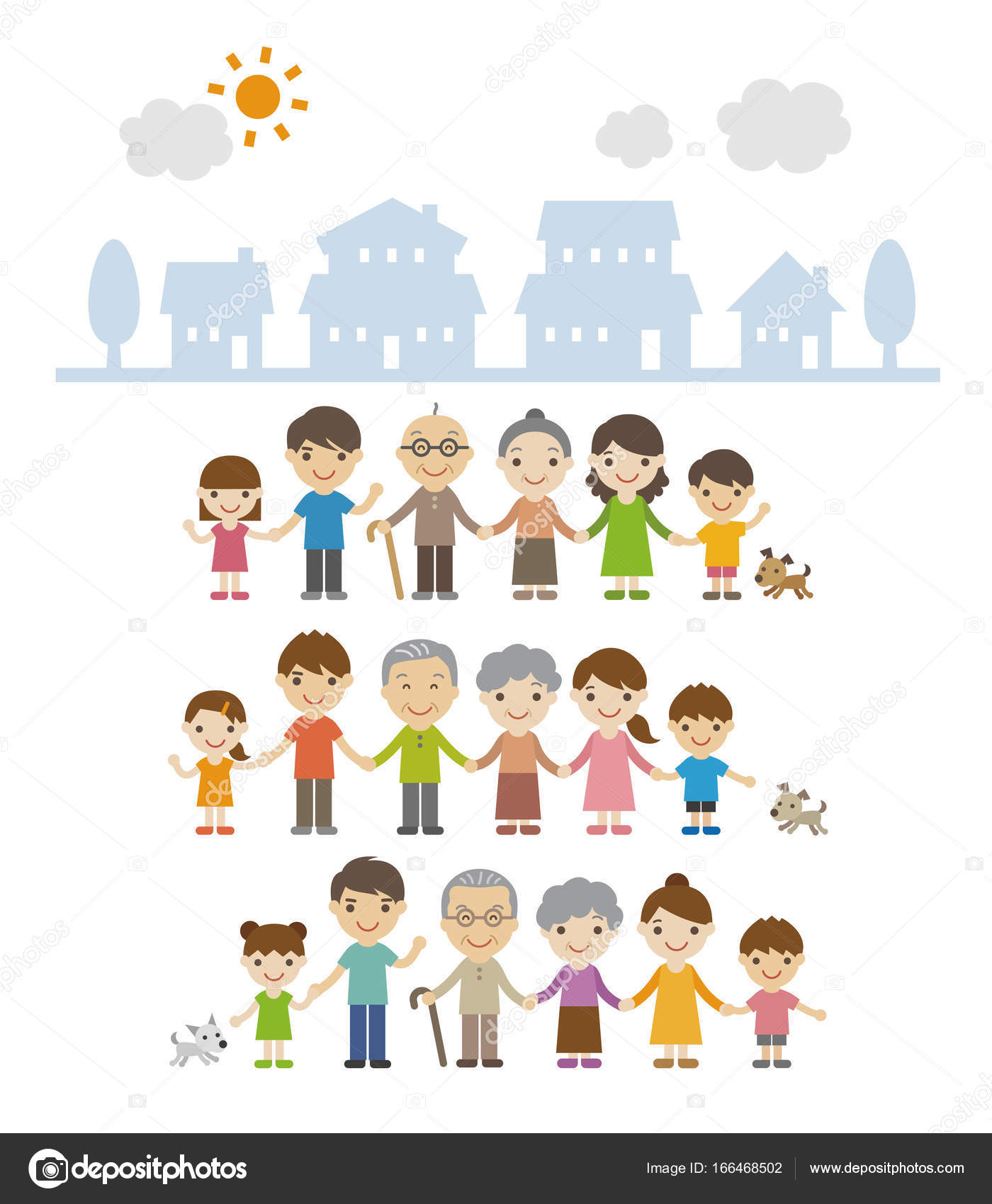 Diverse Families Clipart : diverse, families, clipart, Multicultural, Family, Stock, Cliparts,, Royalty, Asian, Children, Vectors, Download, Depositphotos®