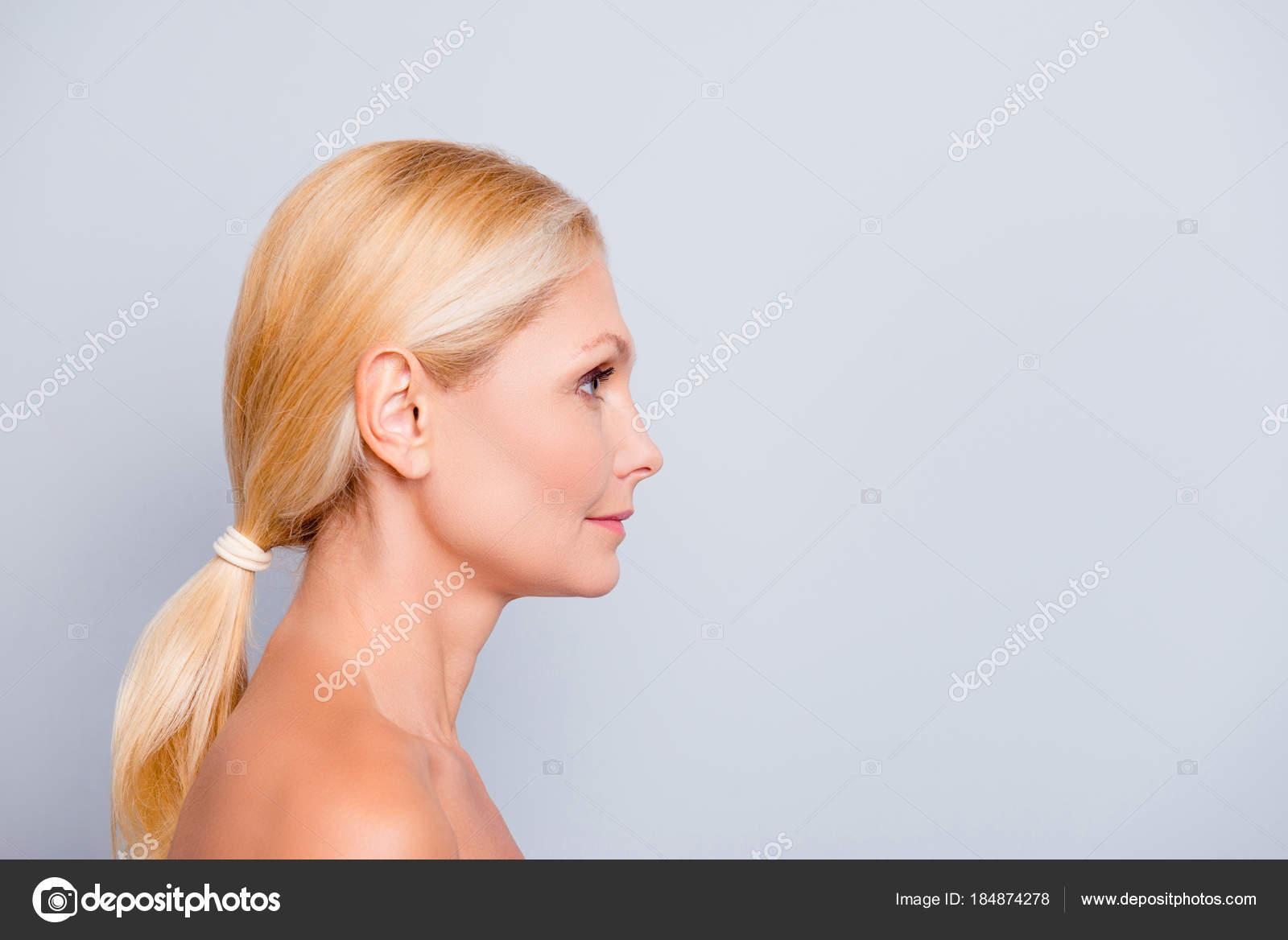 Advertisement Concept Side View Profile Half Face
