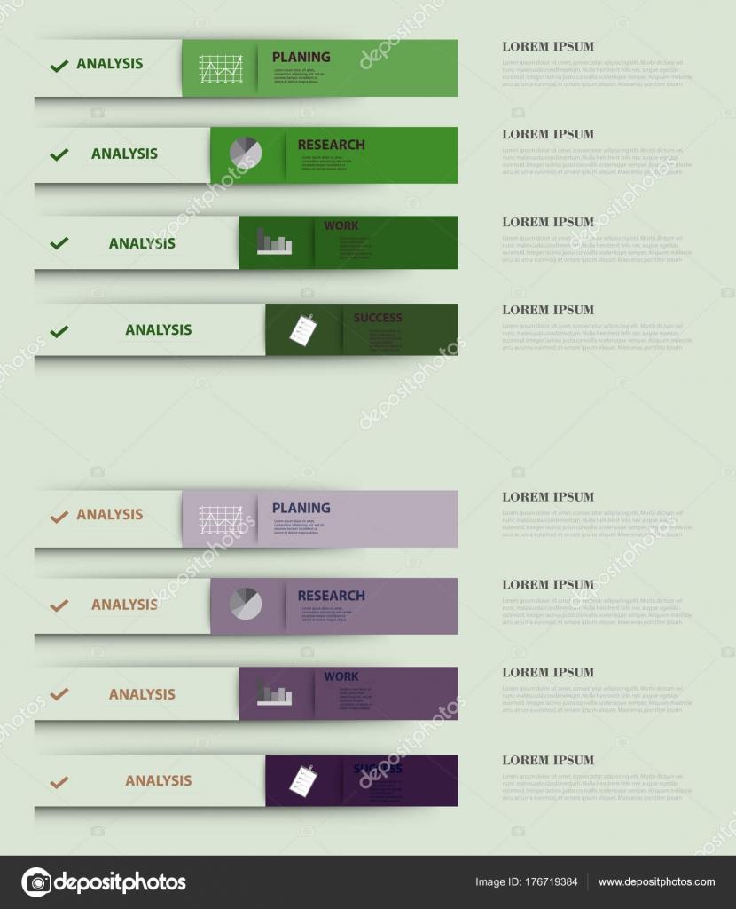 hight resolution of tiras moderno bandera de diferentes opciones de infograf a para procesos de negocio workflow diagrama