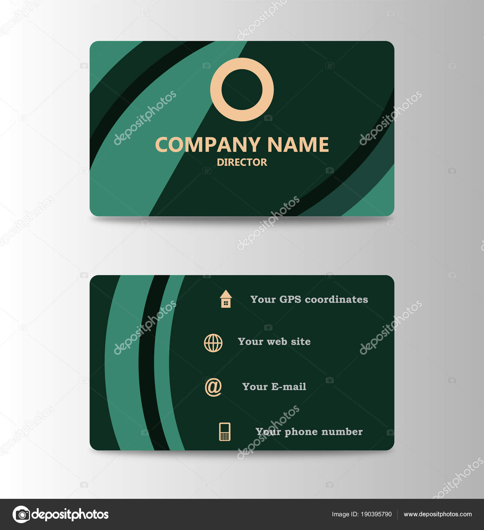 hight resolution of corporate id card design template personal id card for business and identify stock illustration