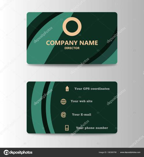 small resolution of corporate id card design template personal id card for business and identify stock illustration