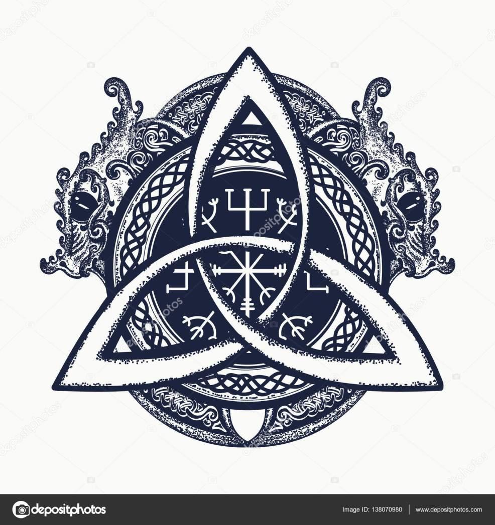 скачать картинку дракона драконы и кельтский узел татуировки и