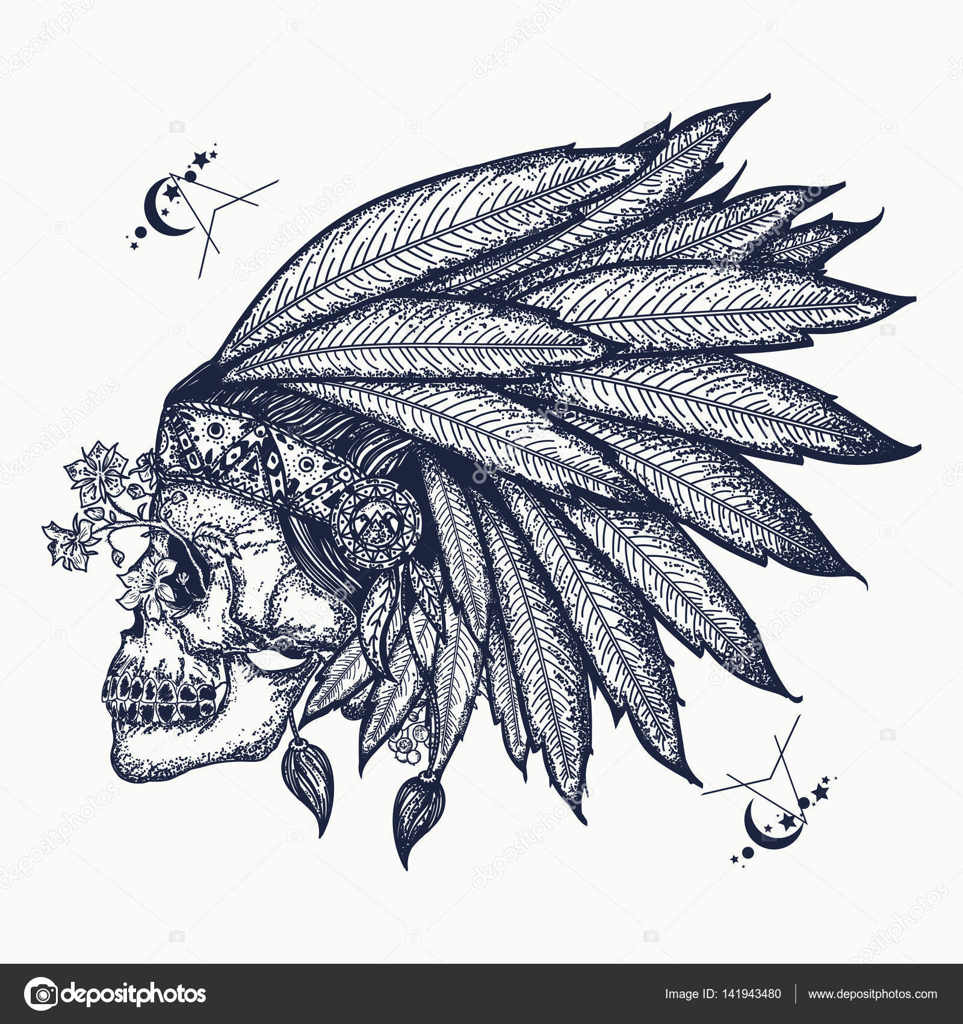 Tattoo Diseños Indios Arte Del Tatuaje De Calavera India Símbolo
