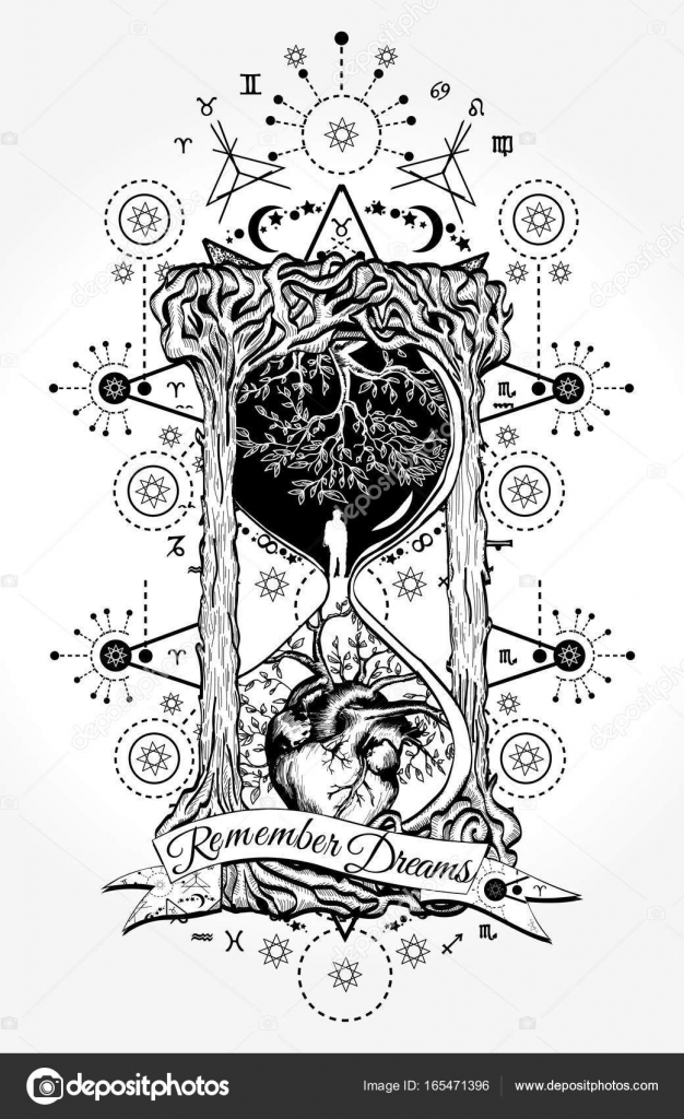 Mystic Tattoo Designs : mystic, tattoo, designs, Hourglass, Tattoo, Vector, Images,, Royalty-free, Vectors, Depositphotos®