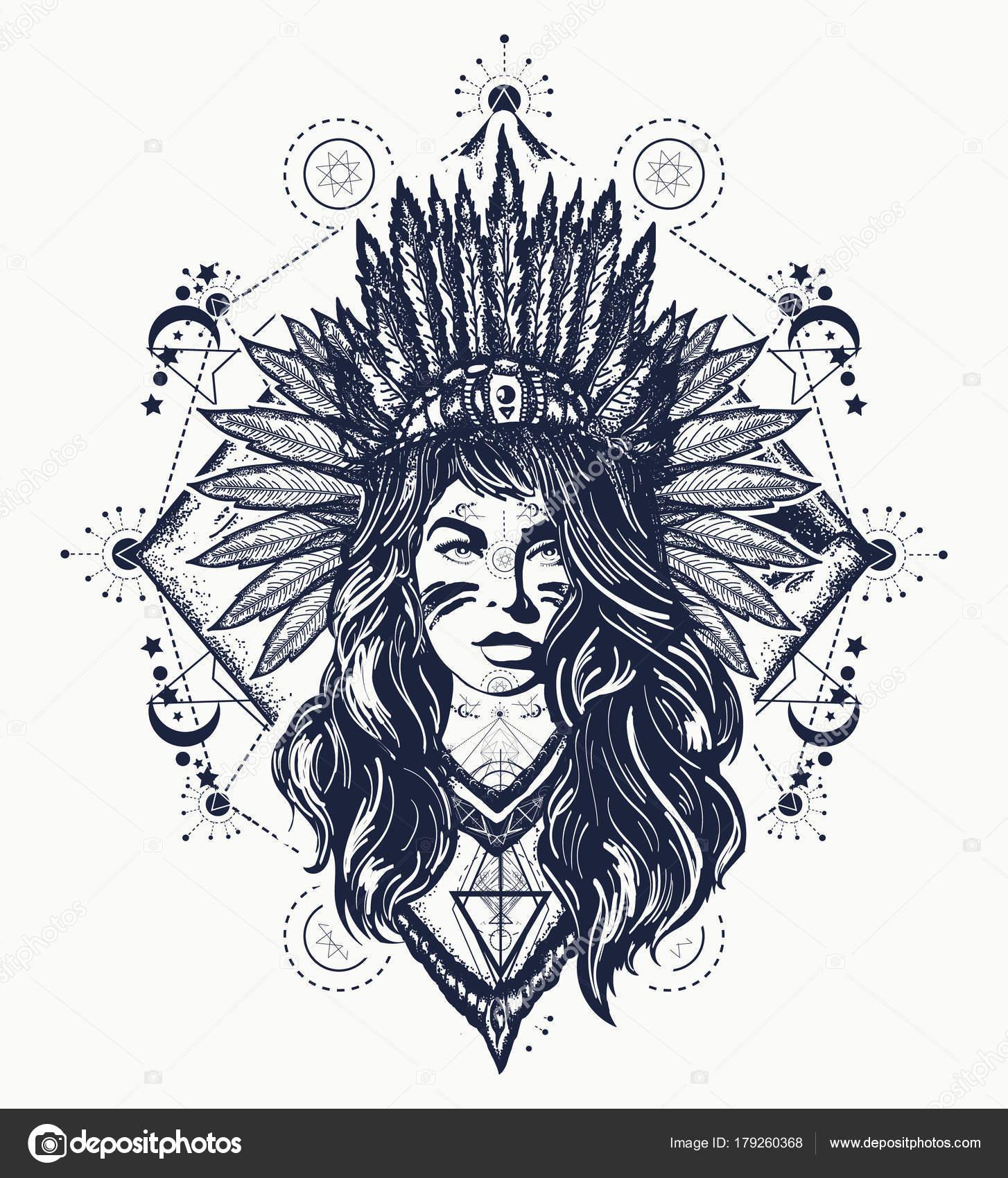 Vector Diseño Tatuajes Diseño Tatuaje Camiseta Mujer Tribal Arte