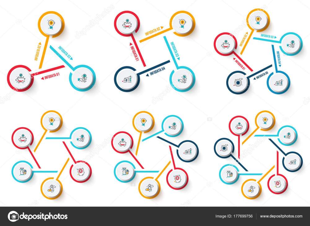 medium resolution of vector circle infographics set template for cycle diagram graph presentation and chart business concept with 3 4 5 6 7 and 8 options parts